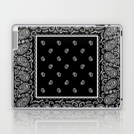Classic Black Bandana Laptop & iPad Skin