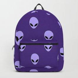 Purple Space Alien Aliens Area 51 Grey Greys Gray Grays  Pattern Roswell Backpack