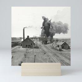 Godzilla King of Monsters Ironwood Michigan 1898 Mini Art Print