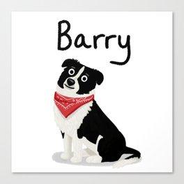 """Custom Cute Dog Art """"Barry"""" Canvas Print"""