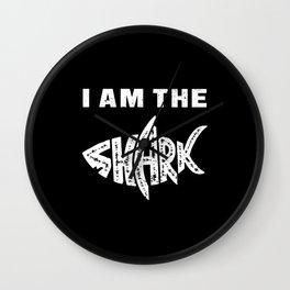 Shark Sharks Fin Ocean Fish Sea Funny Gift Idea Wall Clock