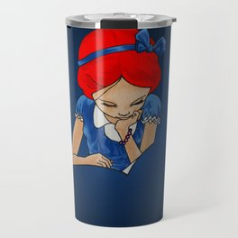 Alice in Readerland Travel Mug