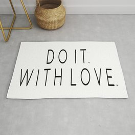 Do It With Love, Love Quote, Motivational Poster, Bedroom Decor, Gift For Her Rug