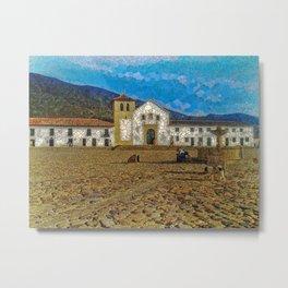 Colonial Town Metal Print