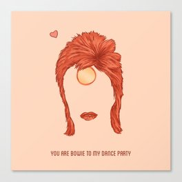 Bowie Valentine Canvas Print