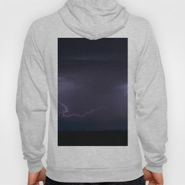 Summer Lightning Storm On The Prairie IV - Nature Landscape Hoody