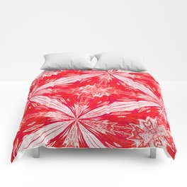 Tropical Red and White Fashion Comforters