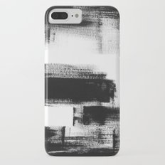 No. 85 Modern abstract black and white painting Slim Case iPhone 7 Plus