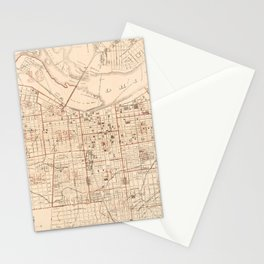 Vintage Map of Louisville KY (1879) Stationery Cards