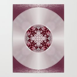 Vinyl Record Illusion in Pink Poster