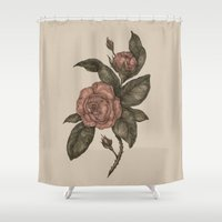 roses Shower Curtains featuring Roses by Jessica Roux
