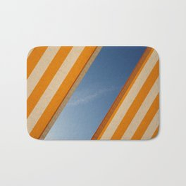 Orange blue sky Bath Mat