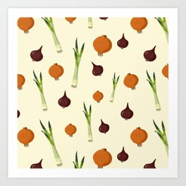Onion pattern Art Print