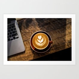 That Perfect Cup of Cappuccino Coffee Art Print