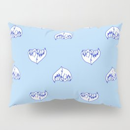 Best Friend Galentine's Day Pinky Promise Pattern in Blue Pillow Sham