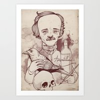 poe Art Prints featuring Poe by hatrobot
