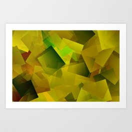 Yellow-blossomed field ... Art Print