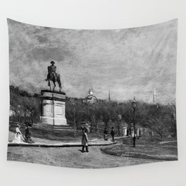 George Loring Brown - The Public Garden, Boston Wall Tapestry