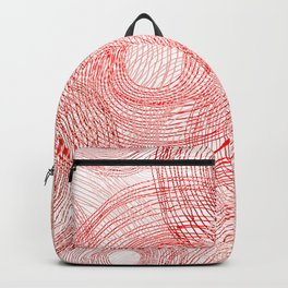 Pink circles abstract lines hand drawn illustration pattern Backpack