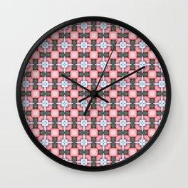 Watercolor symmetrical ornament Wall Clock