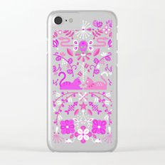 Kitten Lovers – Pink Ombré Clear iPhone Case