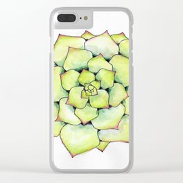 Echeveria Eloise Clear iPhone Case