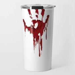 I Am Fine Bloody Hand Gag Halloween Horror Gifts  Pullover Hoodie Travel Mug