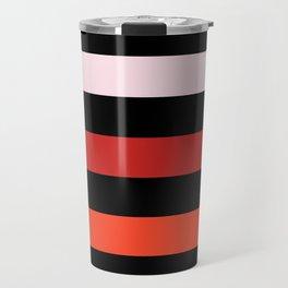 Modern Color Summer Stripes Pattern Travel Mug