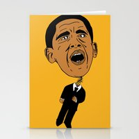 obama Stationery Cards featuring Obama by Gnarleston