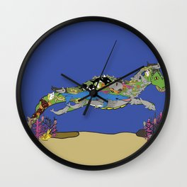Little Leviathan from Job 41: hidden in the sea Wall Clock
