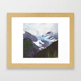Portage Glacier Midsummer Framed Art Print