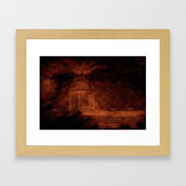 Hold back the nightmare... Framed Art Print