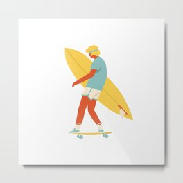 Skater from 70s Metal Print
