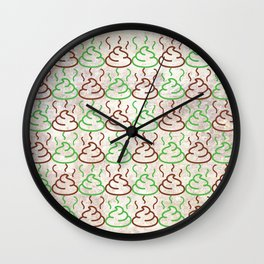 Poop Pattern Wall Clock