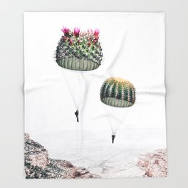 Flying Cacti Throw Blanket