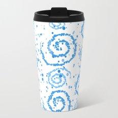 Abstract Blue Squigglisciousness Metal Travel Mug