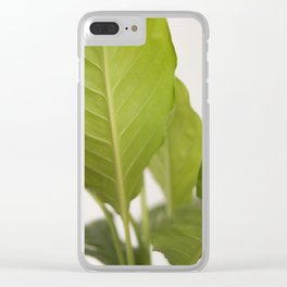 Hojas verdes (2) (green leafs) Clear iPhone Case