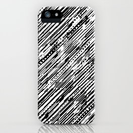 Diagonals B & W iPhone Case