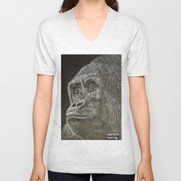 Ape Gorilla  Unisex V-Neck