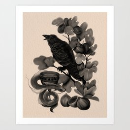 Corvus (Dark Familiars Series #3) Art Print