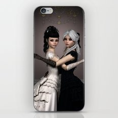 Beautiful Ladies and a difficult choice iPhone & iPod Skin