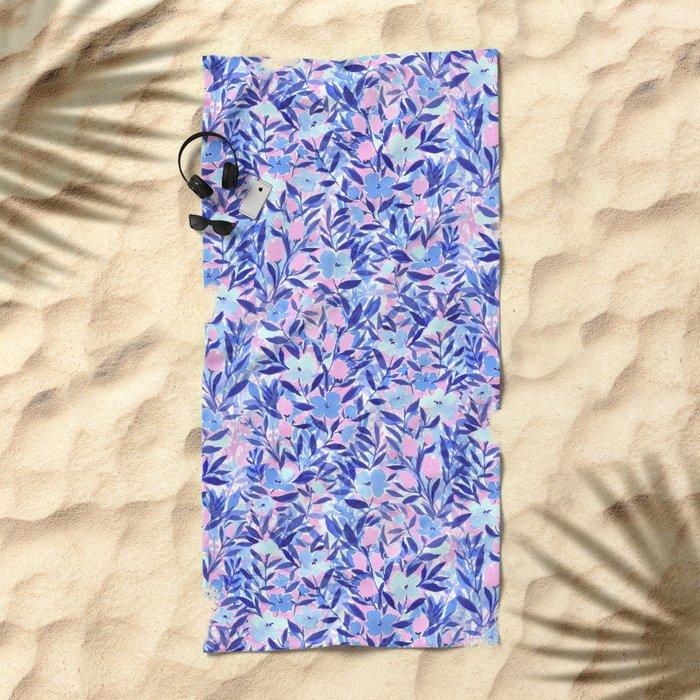 Nonchalant Blue Beach Towel