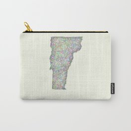 Vermont map Carry-All Pouch