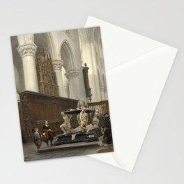 Johannes Bosboom - The Choir of the OL-Vrouwekerk in Breda with the Tomb of Engelbert II of Nassau Stationery Cards