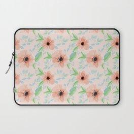 Peachy floral pattern Laptop Sleeve