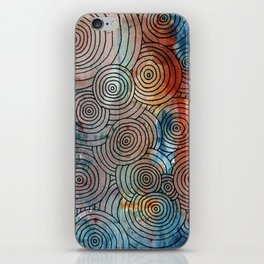 Circles, Water, & Color Drawing Meditation iPhone Skin