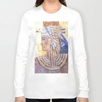 egyptian Long Sleeve T-shirts featuring Egyptian Queen by Brian Raggatt