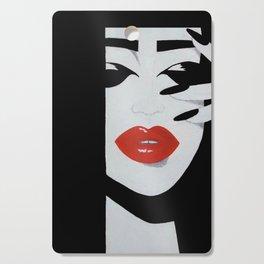 """Red Lips"" Cutting Board"
