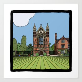 Cambridge struggles: Selwyn College Art Print
