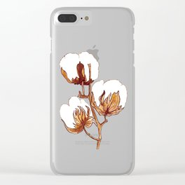 Cotton Watercolor Painting Clear iPhone Case